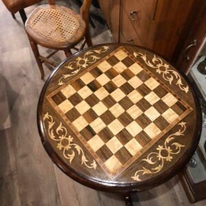 Antique Sewing & Games Table
