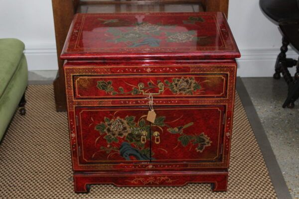 Lacquered Chinoiserie Cabinet