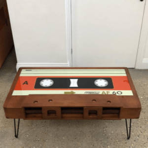 Retro Style Cassette Coffee Table