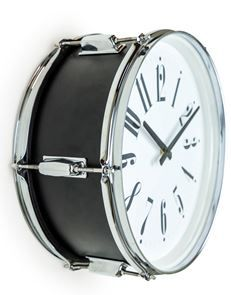 Super cool Drum Wall Clock – Black