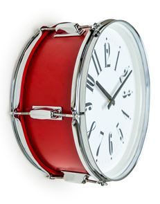 Super cool Drum Wall Clock – Red