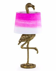 Quirky Pink Flamingo Lamp with Pink Shade