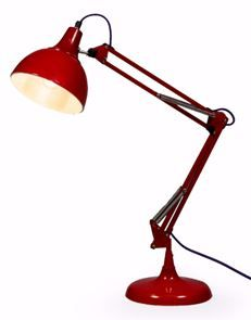 Adorable Racing Red Desk/Table Lamp