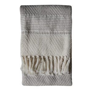 Eco Friendly Luxury Throw – Natural