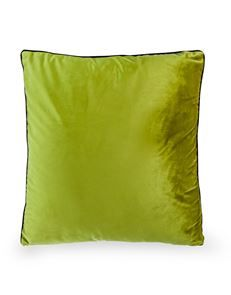 Decadent Avocado Cushion with Gold Zip