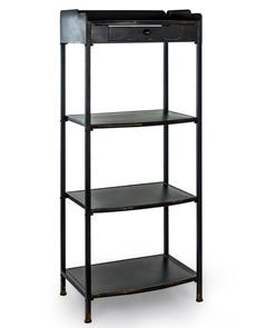 Industrial Style Black Metal Shelf Unit