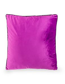 Decadent Deep Purple Cushion with Gold Zip