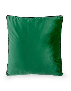 Decadent Green Cushion with Gold Zip