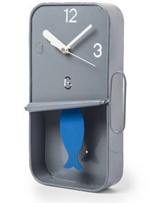 Fishy Time – Sardine Clock Grey