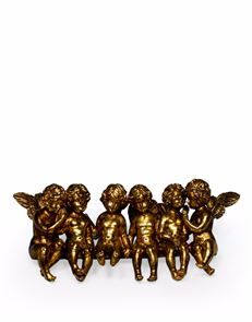 Golden Seated Group Of Cherubs