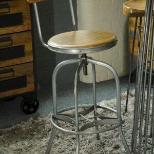 Industrial Re-Engineered Bar Stool With Back Rest
