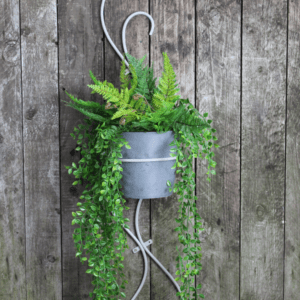 Hand Forged Decorative Wall Planter with Pot