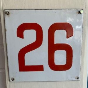 Vintage Enamel Sign Original Number 26