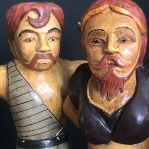 Stunning Strongman and Bearded Lady Figures