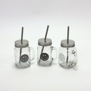 Groovy Smiley Glasses with Lid & straw