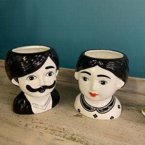 His and Hers Quirky pots – Clive & Clara