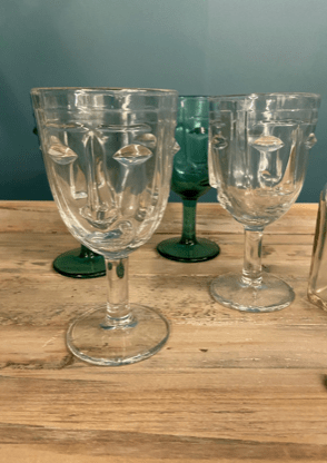 Art Deco Style Drinking Glasses Clear Fowler And Smith